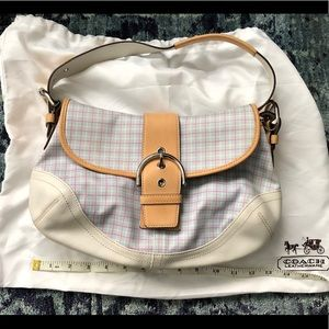 Coach fabric/ leather hobo